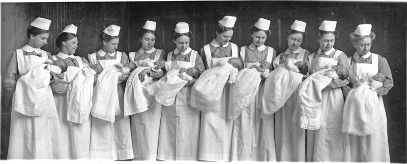 0f931bfd2be ... Babies and deaconesses at Bethel Deaconess Hospital, Newton, Kansas,  1915 | by Mennonite
