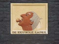 Amsterdam - gevelsteen De Eeuwige Gaper - Gelderse Kade 84