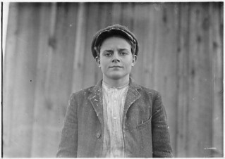"""Soarbar Seris has worked off and on in the mill for 5 years. Winds. Gets 70 cents and up. """"Reckon I'm about 14."""" Didn't look it, December 1908"""