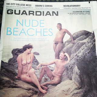 SF Guardian cover story on nude beaches. NSFW, but avail. for free on my street. | by sarahwulfeck