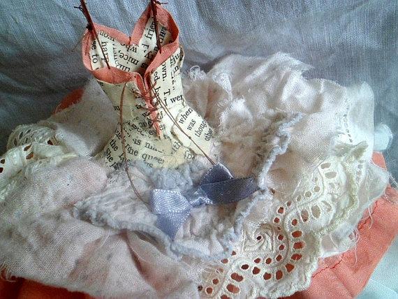 Paper Dress Art Assemblage