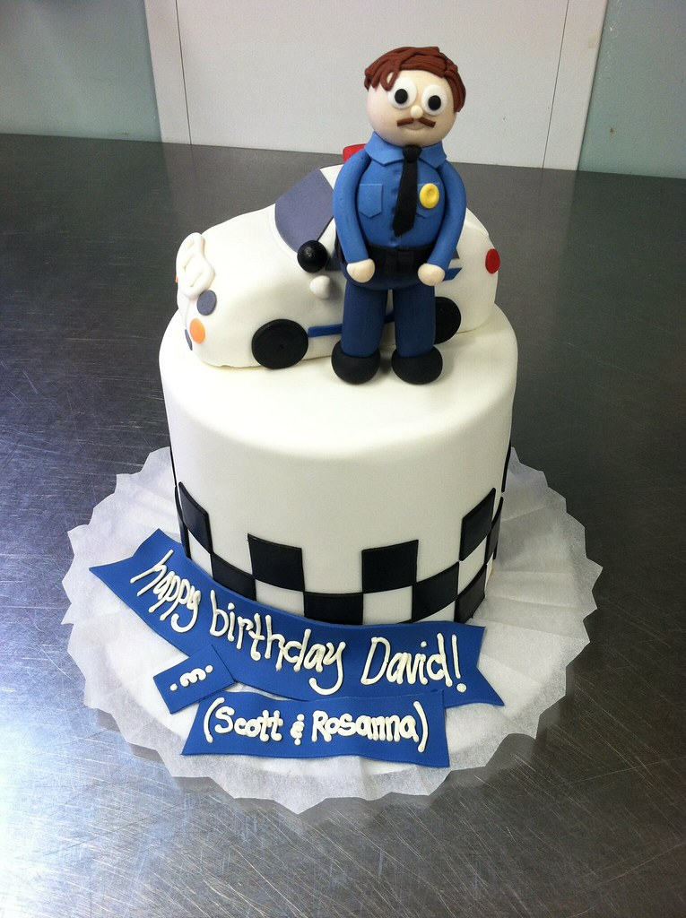 Cool Policeman Cake A Photo On Flickriver Funny Birthday Cards Online Hendilapandamsfinfo