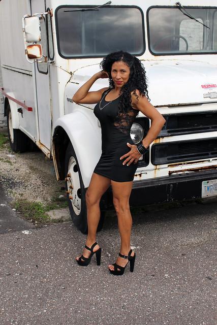 White Truck & Black Dress
