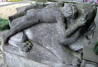 The Last Chimaera, sculpture, Canongate Kirk Churchyard, Edinburgh, Scotland
