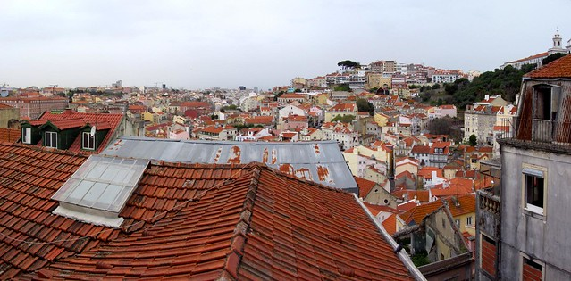 Panorama, Lisbon from Alfama District, Lisbon, Portugal