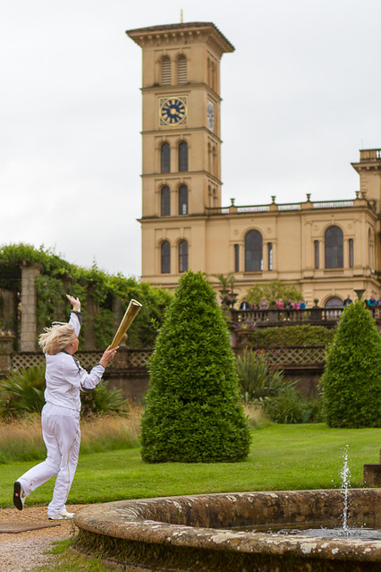 The 2012 Olympic Torch Relay at Osborne House, Isle of Wight.
