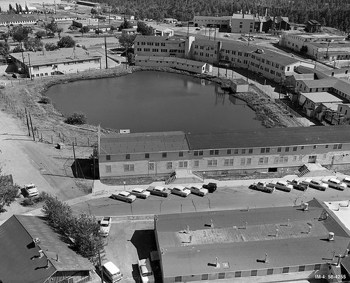 1957 Ashley Pond from atop water tower TA-1 9-18-57