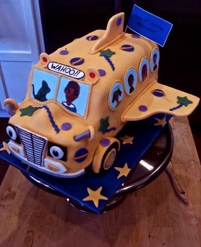 Magic School Bus Cake