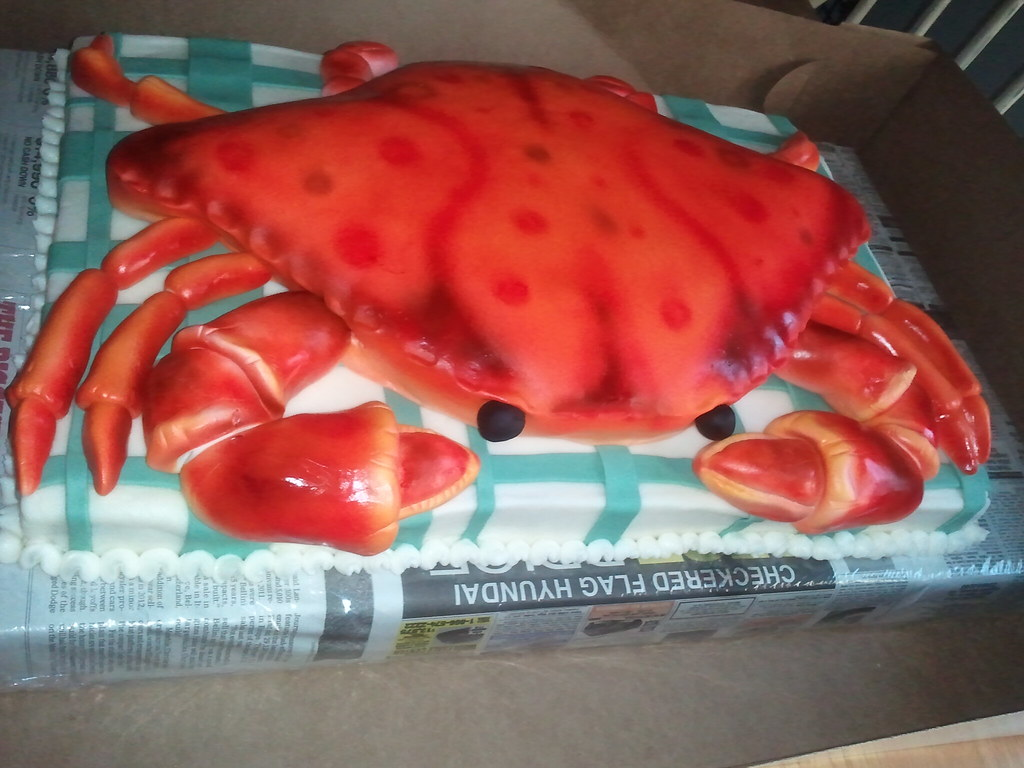 Superb Crab Birthday Cake Imake Sweets Flickr Funny Birthday Cards Online Necthendildamsfinfo