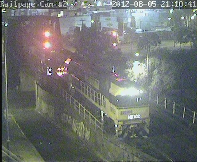 NR102-NR81-NR93-AN1 light engine from LPC to Dynon MFT 5-8-2012 by Railpage Bunbury Street