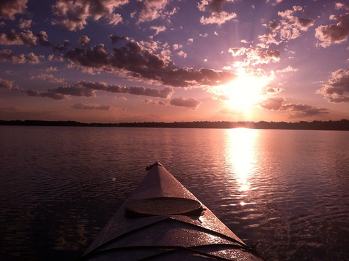 morning sky water sunrise kayak lakes wa sk