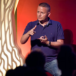Patrick Ness | Patrick Ness on stage