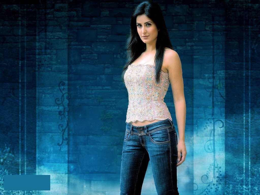 Bollywood-Girl-Katrina-Kaif-Hot-In-Blue-Jeans-HD-Wallpaper