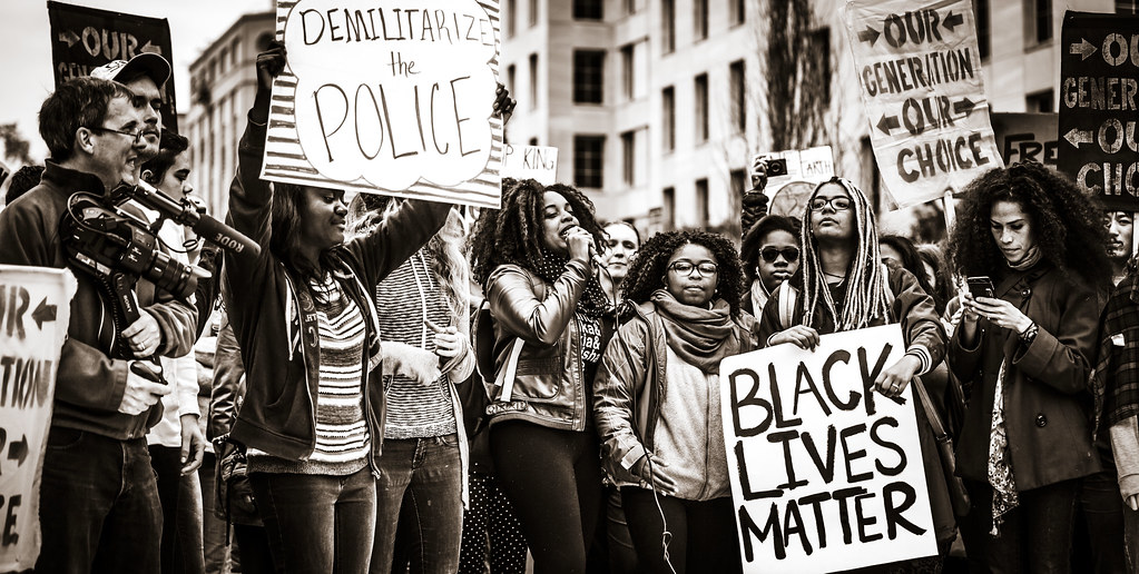 Demilitarize the Police, Black Lives Matter | Johnny Silvercloud | Flickr