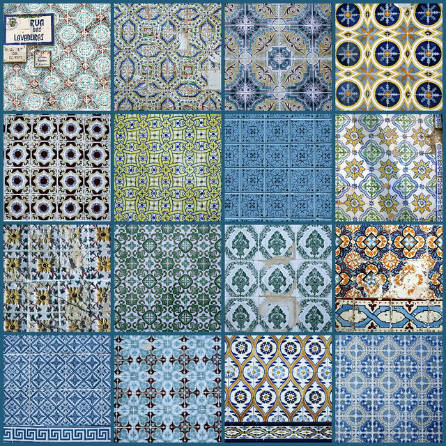 Olhao Tile Collage