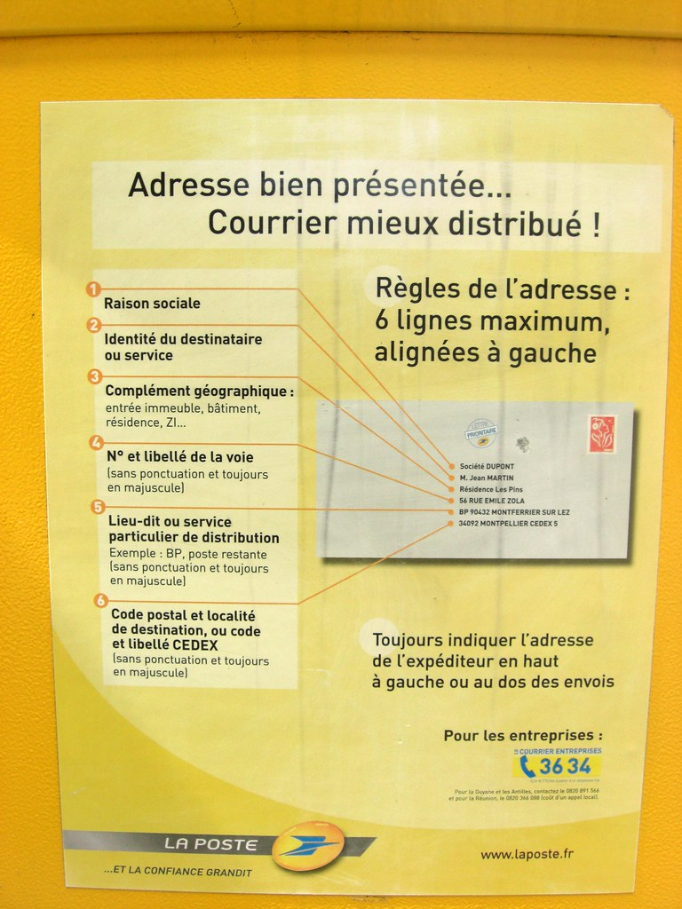 How to address an envelope in Paris France    6 lines maxi… | Flickr
