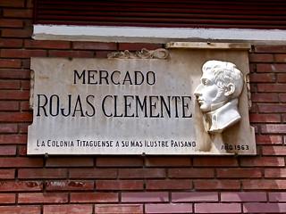 Placa conmemorativa a Rojas Clemente (botánico) en el mercado del mismo nombre - Valencia | by Antonio Marín Segovia