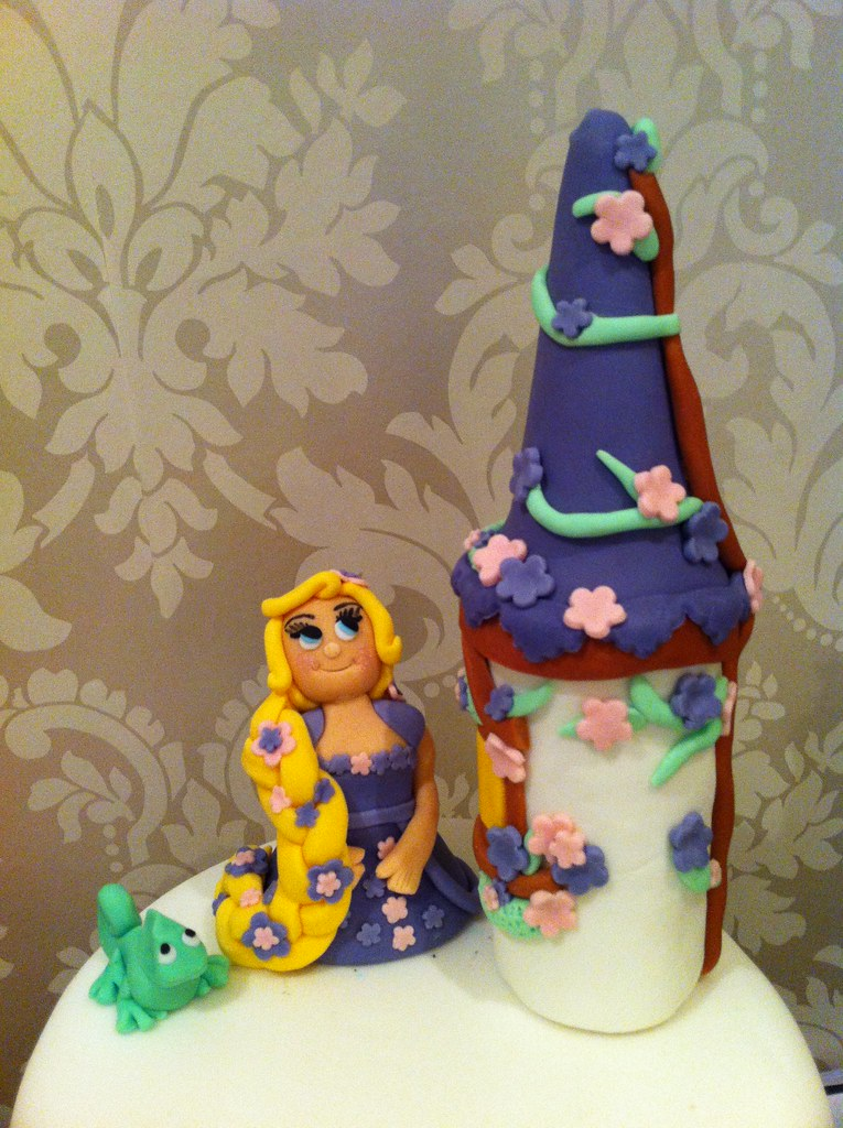 Rapunzel Tower Pascal Cake Topper
