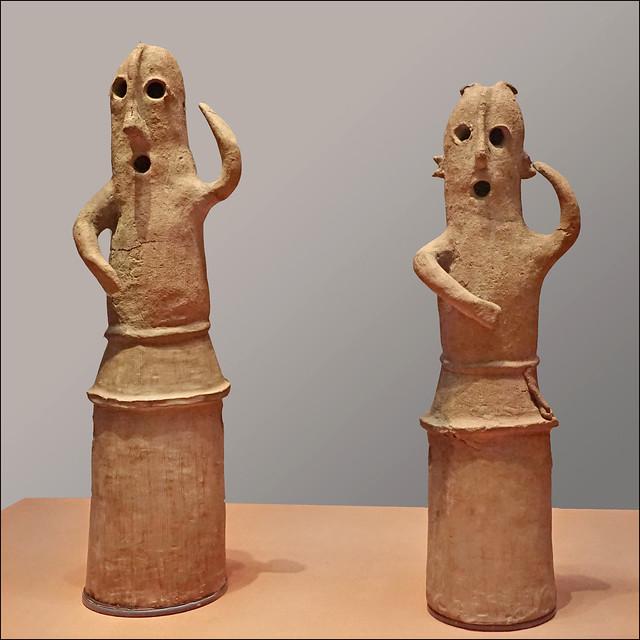 Statuettes Haniwa de danseurs (Musée national de Tokyo, Japon)
