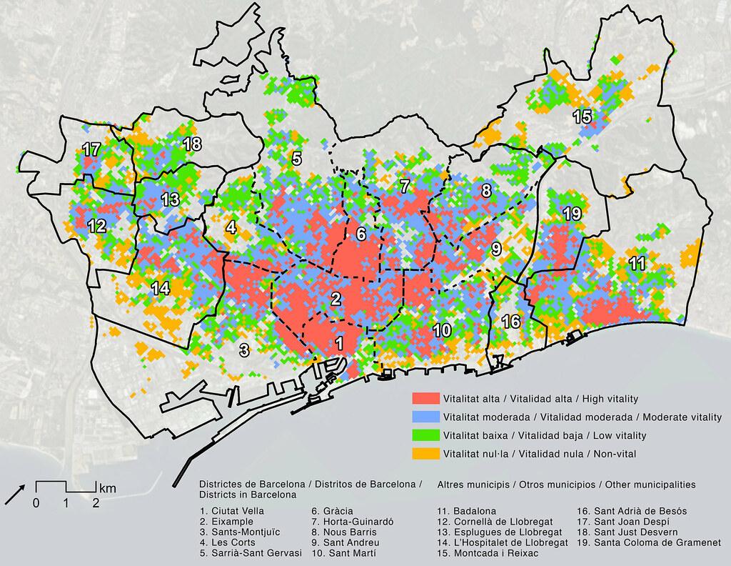 Mapa De La Vitalitat Urbana A Barcelona Flickr