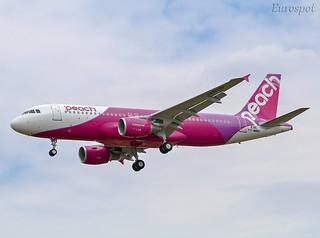 F-WWBH Airbus A320 Peach   by @Eurospot