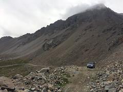 Montée finale vers le col Pereval Tosor dans le massif du Tian Shan