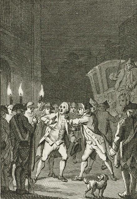 Burgemeester Loten aangevallen te Utrecht, 1785, Reinier Vinkeles (I), naar Jacobus Buys, 1785 - 1795