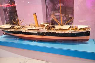 Model of a 1905 Dutch cruise ship