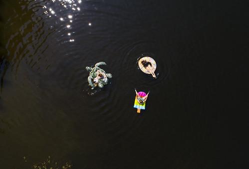 summer lake heatwave aerial fun outdoors adventure float floating bikini women cute hot sunset beautiful camp 2018 drone dji