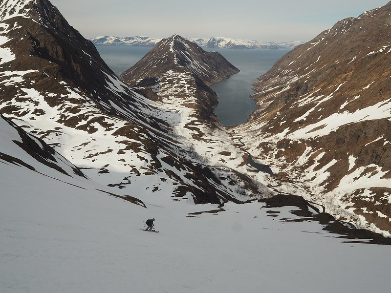 Finnmark. Quite possibly a first descent here.  Skier: David Collier