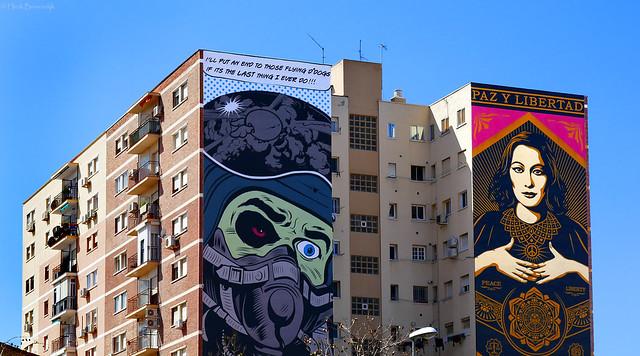Spain: Málaga mega murals by D*Face and Obey