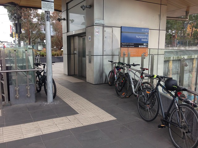 Overflow bicycle parking, Nunawading Station