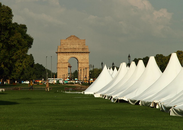 Delhi. Puerta de la India. Kilómetro cero.