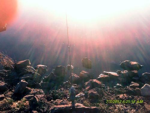 sunrise fishing fishingpoles briteslake