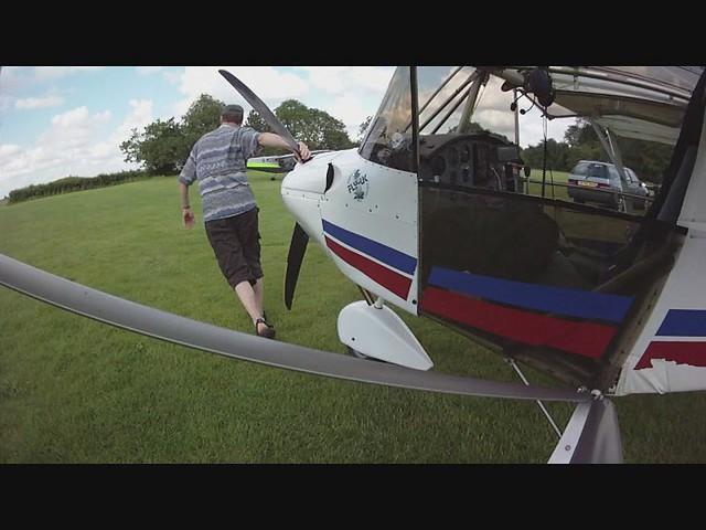 Flight in the clouds 90 secs