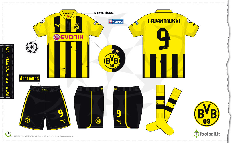 reputable site d141d 62d54 Borussia Dortmund Champions League home kit 2012/2013 | Flickr