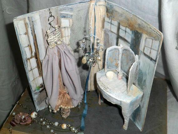 Handmade Dressing Room Art Assemblage