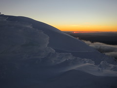 Sunset - western faces of the Main Range
