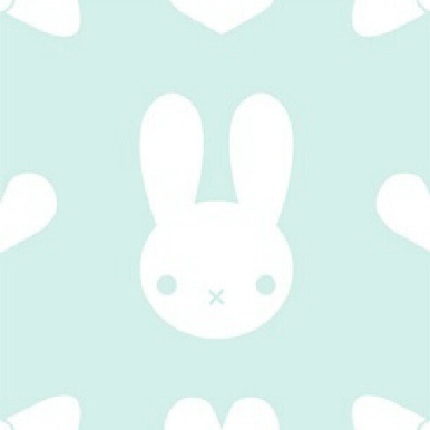 Cute Kawaii Bunny Pattern Wallpaper Also Found On My