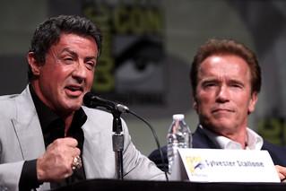 Sylvester Stallone & Arnold Schwarzenegger | by Gage Skidmore