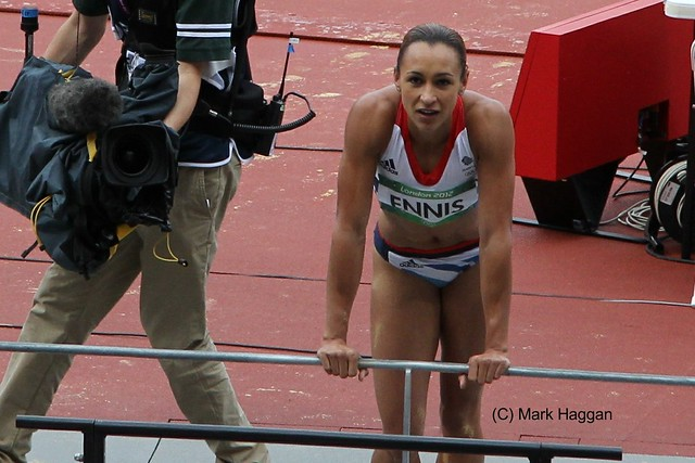 Gold medal winner Jessica Ennis at the London 2012 Olympics