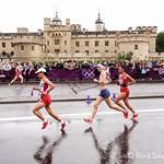 při maratonu na OH v Londýně, foto: Bára Soukupová