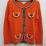 81006(-1850)CHANEL)针织羊毛毛衣(橙黄)S.M.L胸88   长60
