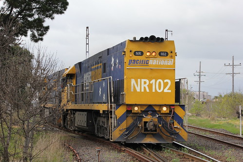 NR102 and NR90 leave the Spotswood maintenance centre bound for Dynon | by bukk05