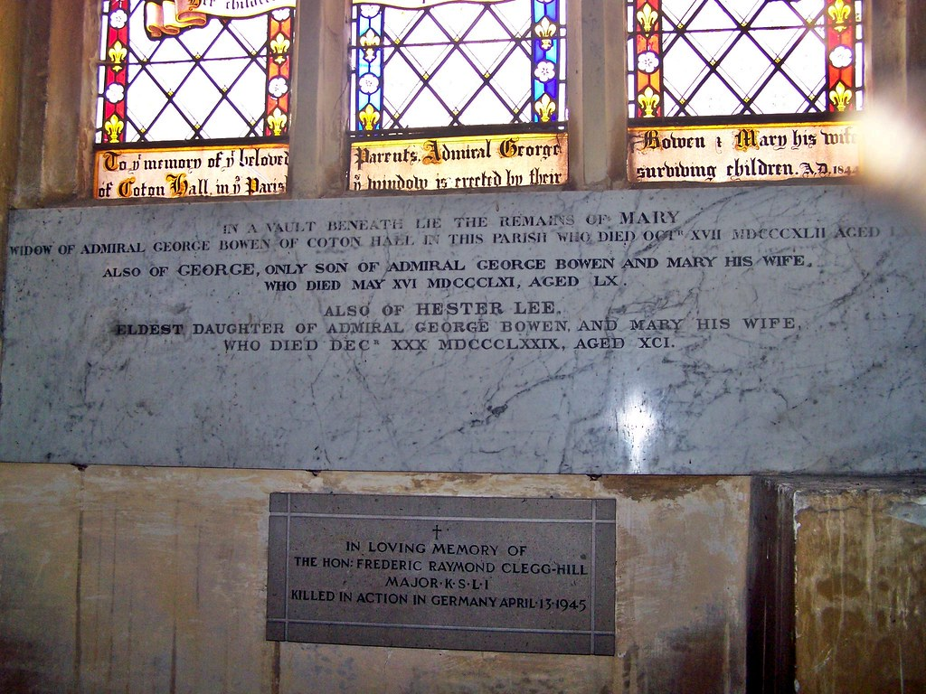 Shropshire, Edstaston | Mary widow of Admiral George Bowen o… | Flickr