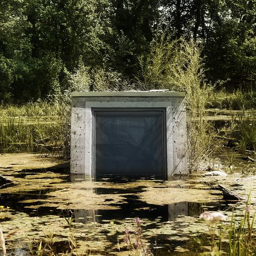 Underwater observation station Nationalparkzentrum Donau Auen Schloß Orth - Wasser Spiegel Water Mirror - Undine   by hedbavny