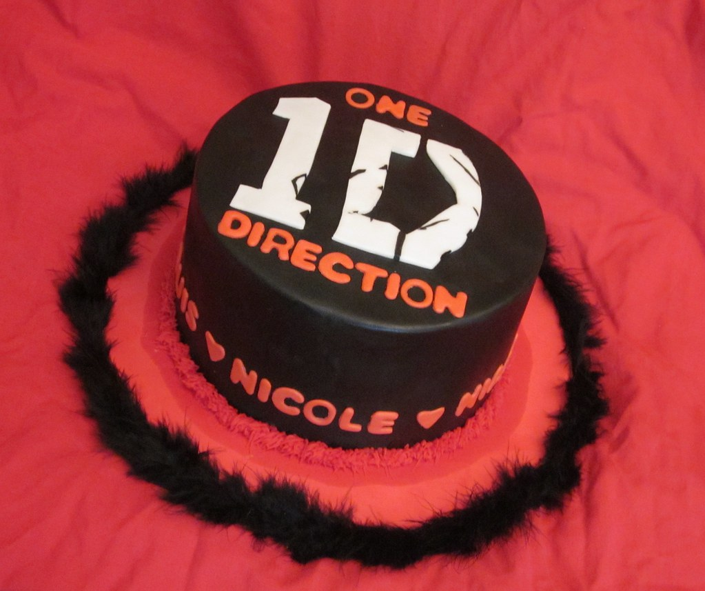 Remarkable One Direction Cake A Photo On Flickriver Funny Birthday Cards Online Elaedamsfinfo