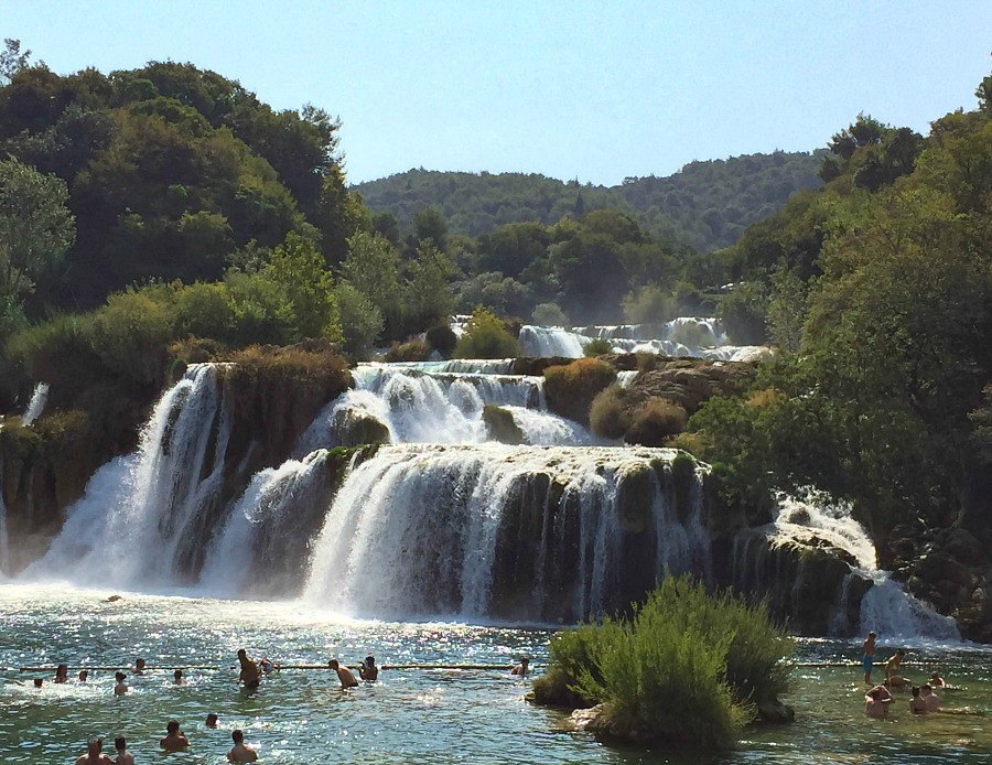 Krka Falls Swimming Area