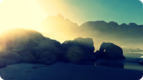 summer beach nature sunshine sunrise cool rocks capetown hss