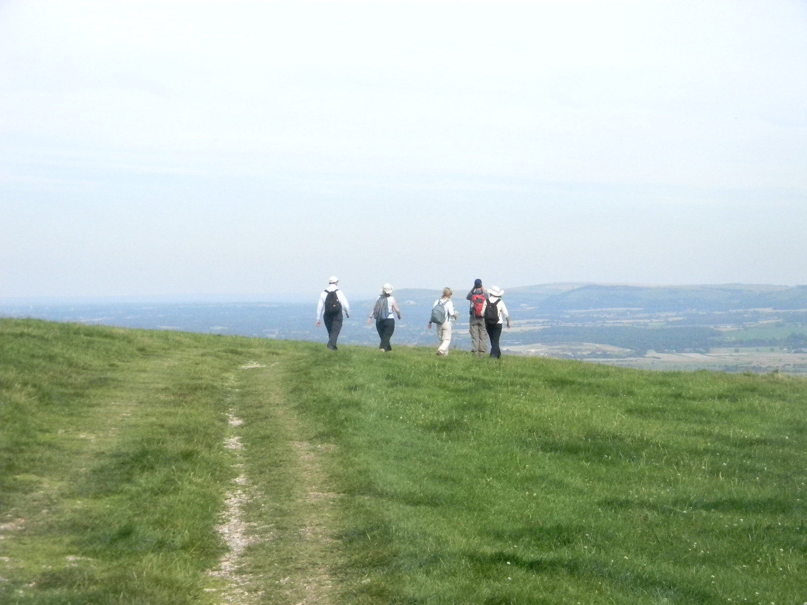 On the escarpment Amberley to Shoreham